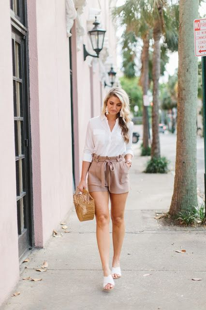 High-Waisted Utility Shorts | High waisted shorts outfit, Casual .