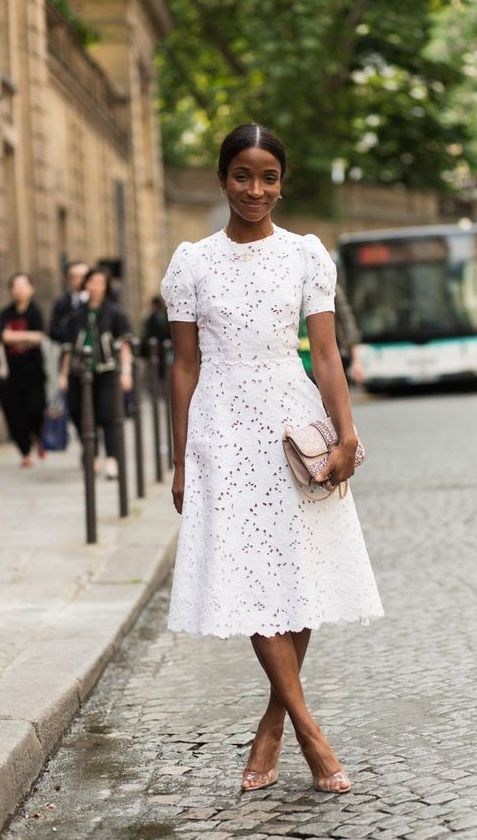 60+ Romantic Lace Mini Midi Dress Ideas | Cotton dress summer .