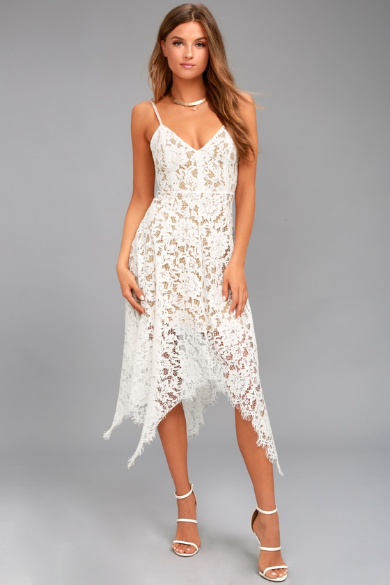 One Wish White Lace Midi Dress | Little white dresses, White .