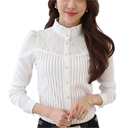 White Lace Shirt: Amazon.c