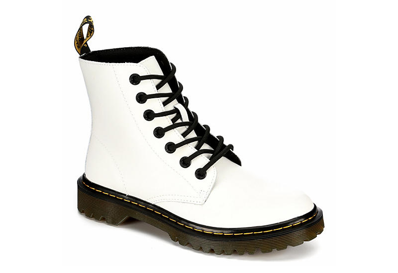 White Dr. Martens Luana Women's Combat Boots | Rack Room Sho