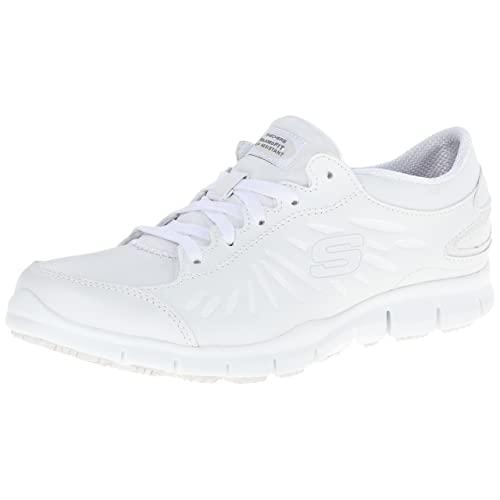 Women's White Leather Shoes: Amazon.c