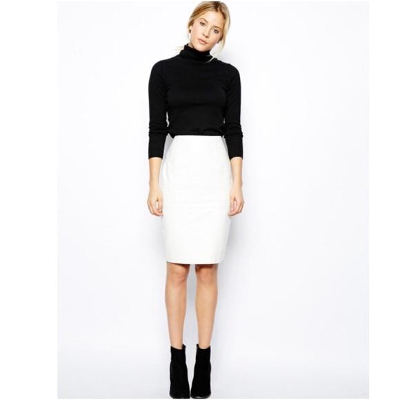 Byrnes & Baker Skirts | Byrnes Baker White Leather Skirt | Poshma