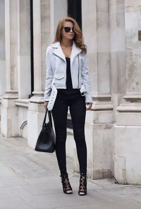 Lauper Tuxedo Moto Jacket in 2020 | Fashion, Trendy outfits, Cute .