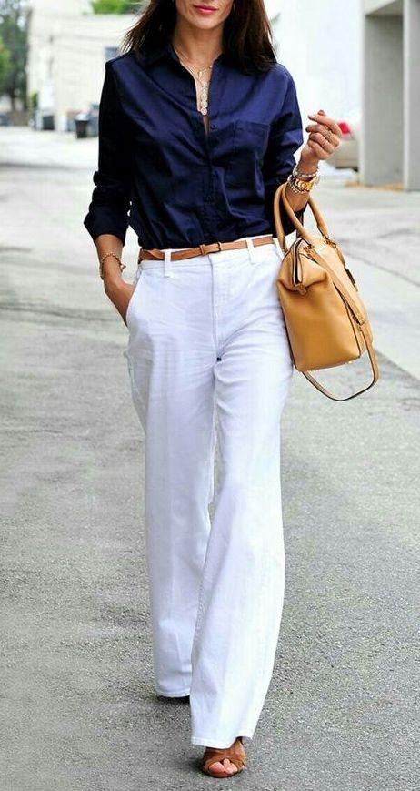 White linen | White linen pants outfit, White pants outfit, Linen .