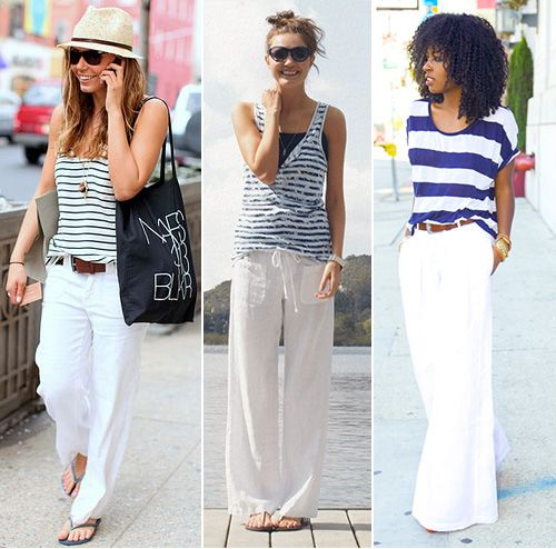 How To Wear White Linen Pants (With images) | White linen pants .