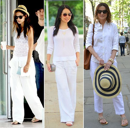How To Wear White Linen Pants | White linen pants, White linen .