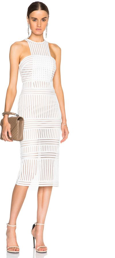 self-portrait Striped Mesh Dress | chic women's fashion outfit .