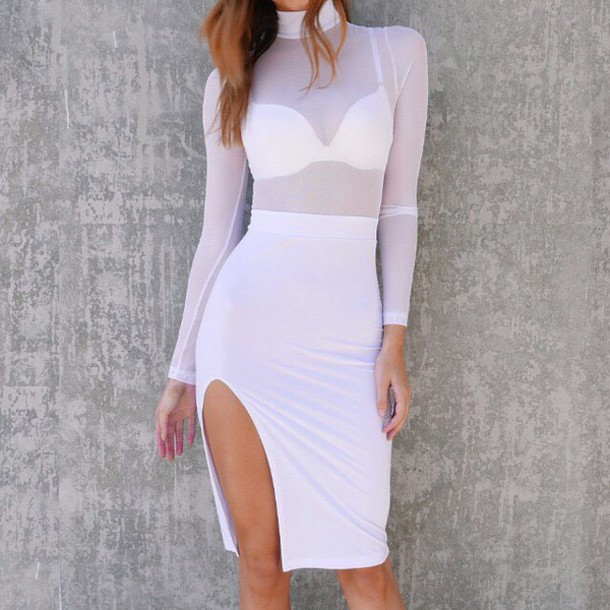 dress, sheer, mesh, white, summer, summer dress, date outfit, date .