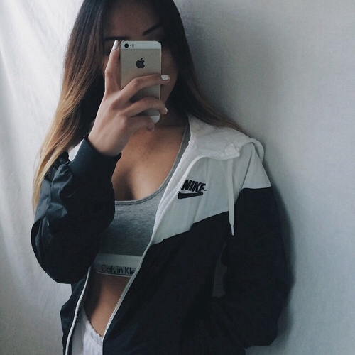 black and white, clothes, fashion, fitness, iphone, nike, outfits .
