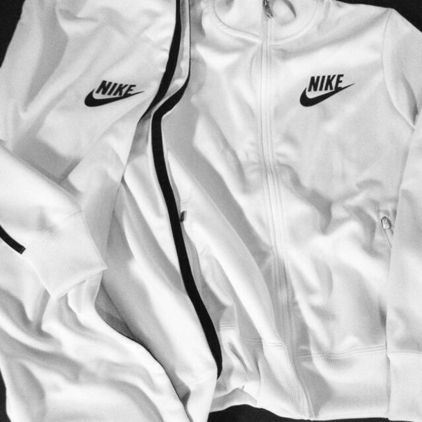 jacket, white, nike, pants, nike roshe run, nike air, black .