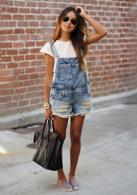 7 Chic Ways to Nail The Overalls Trend | KGD Photoshoot (White .