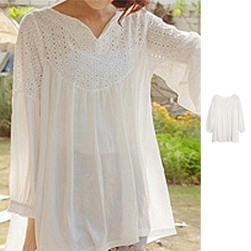 white peasant blouses for women | ... Peasant Women Ladies Boho .