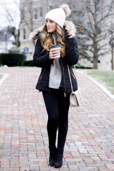How to Style Black Puffer Jacket for Women: Outfit Ideas - FMag.c