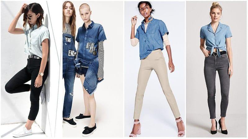 How to Wear a Denim Shirt for Women - The Trend Spott