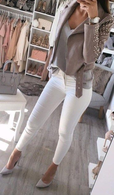 47 Amazing Winter White Skinny Jeans Outfits Ideas | Winter .