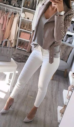Amazing Winter White Skinny Jeans Outfits Ideas 25 | Winter .