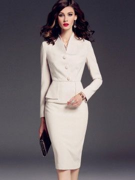 White Ol Graceful Women Skirt Suit | Fashion dress
