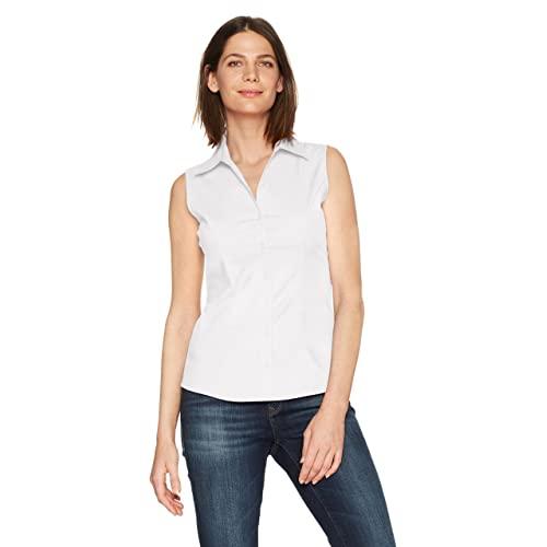 Sleeveless White Shirt: Amazon.c