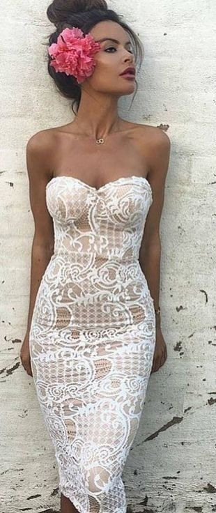 summer #ultimate #classy #outfitideas | White Lace Off The .