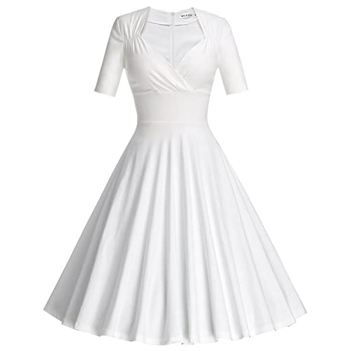White Swing Dress: Amazon.c