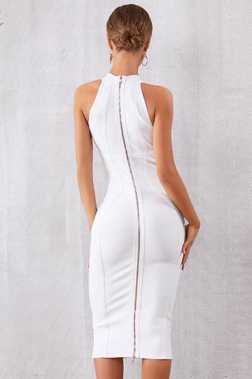Elegant White Tank Dress - intuitivefashions.com – Intuitive .