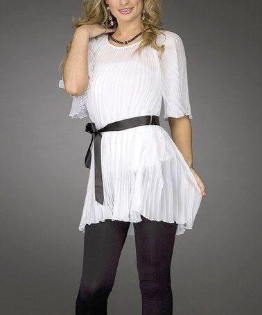 Another great find on #zulily! White Tunic - Women & Plus by Jerry .