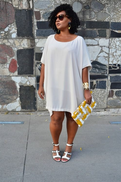 Plus size white dress shirt - curvyoutfits.c