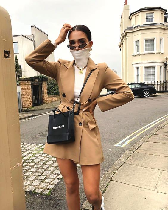 camel-belted-blazer-dress-white-turtleneck-sweater-outfit-idea-min .