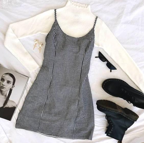 turtleneck-white-sweater-plaid-mini-dress-cozy-valentines-day .