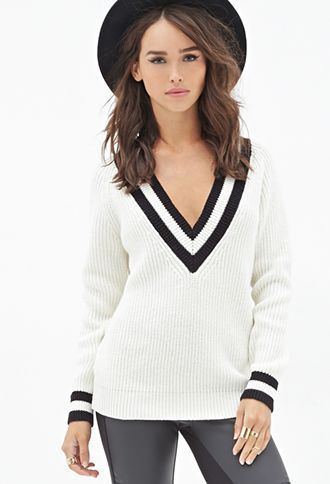 Deep V-Neck Sweater | FOREVER21 - 2052289013 | Vneck sweater .