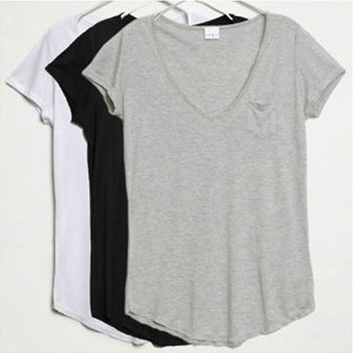 perfect-cotton-v-neck-tee-. | Fashi