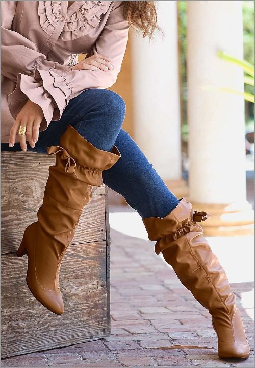 14 Amazing Wide Calf Boots Outfits for Women - FMag.c