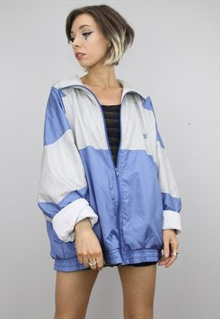 Vintage+80s+90s+Oversized+Festival+Shell+Jacket (With images .