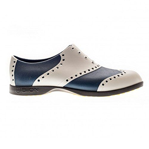 Biion Wingtip Unisex Golf Shoes SilverNavy Mens 3W5 -- Want to .