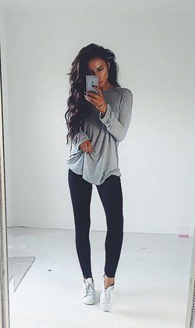 24 Effortlessly Cute Leggings Outfit Ideas #leggings #outfit #fall .