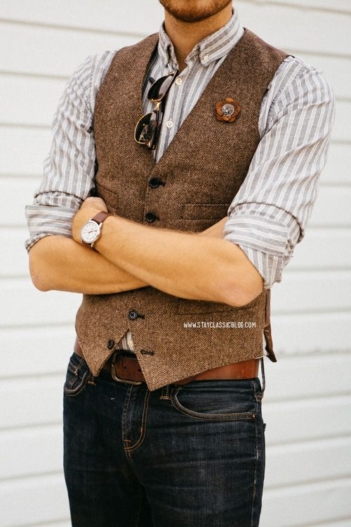 Wool vest for fall … | Mens suit vest, Mens outfits, Menswe