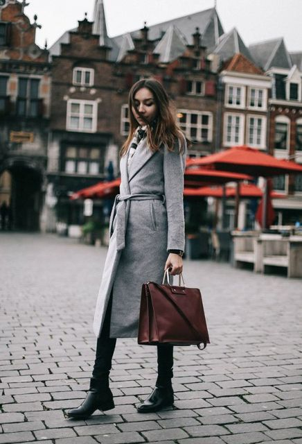 21 Super Cozy Wrap Coat Outfit Ideas To Try - Styleohol
