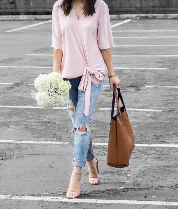 How to Style Wrap Blouse: 15 Chic Outfit Ideas for Ladies - FMag.c
