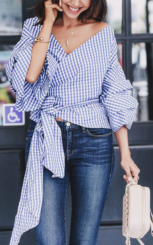 25 Stylish Ruffle Top Outfits to Rock This Summer | Fashion .