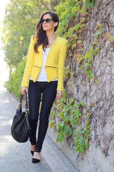 How To Wear A Yellow Blazer | Yellow blazer, Fashion, How to wear .