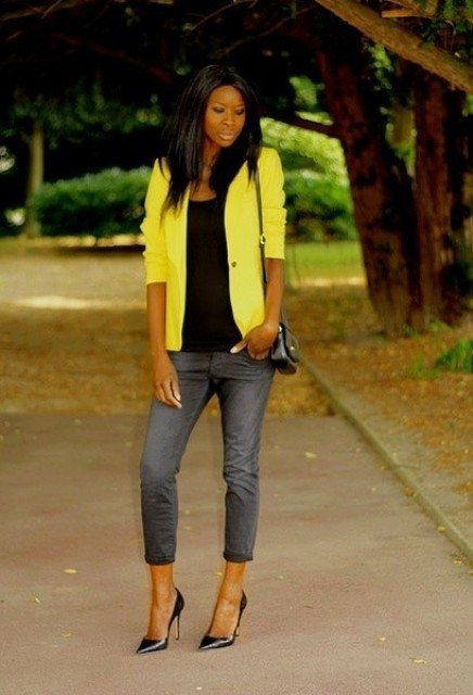24 Sunny Outfits With Yellow Jackets - Styleohol
