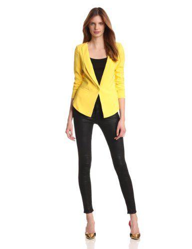 aryn K Women's Yellow Blazer | Blazer jackets for women, Blazer .