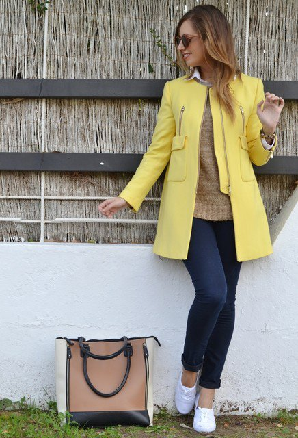 Yellow Winter Coat Outfit Idea for 2015 | Styles Week
