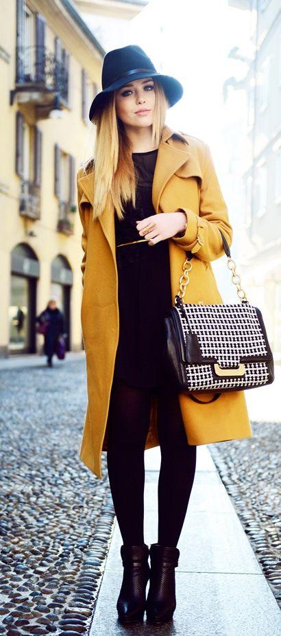 street #style mustard @wachabuy | Fall fashion coats, Winter .