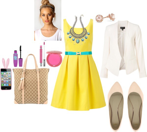 Yellow Outfit Idea for Summ