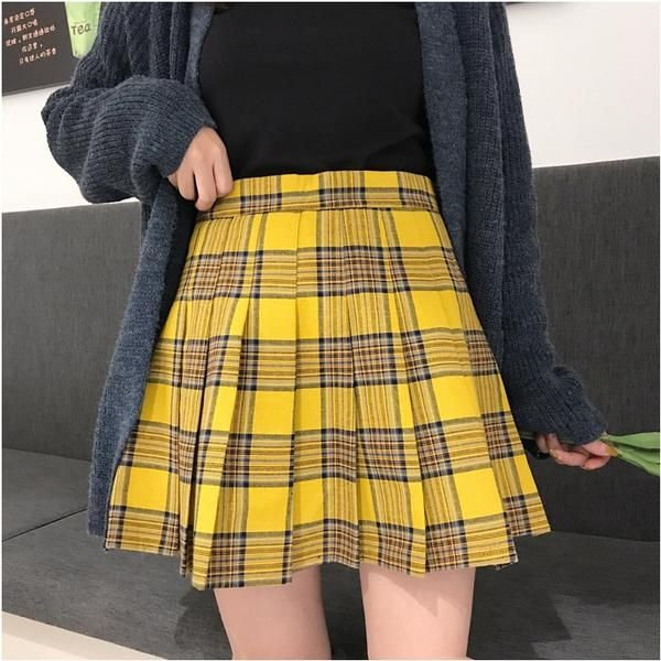 Gothic Grunge Harajuku Pleated Plaid Skirt (S to 5XL) in 2020 .