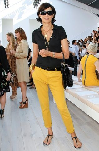 If I have to wear a polo shirt all week ... Ines de la Fressange .