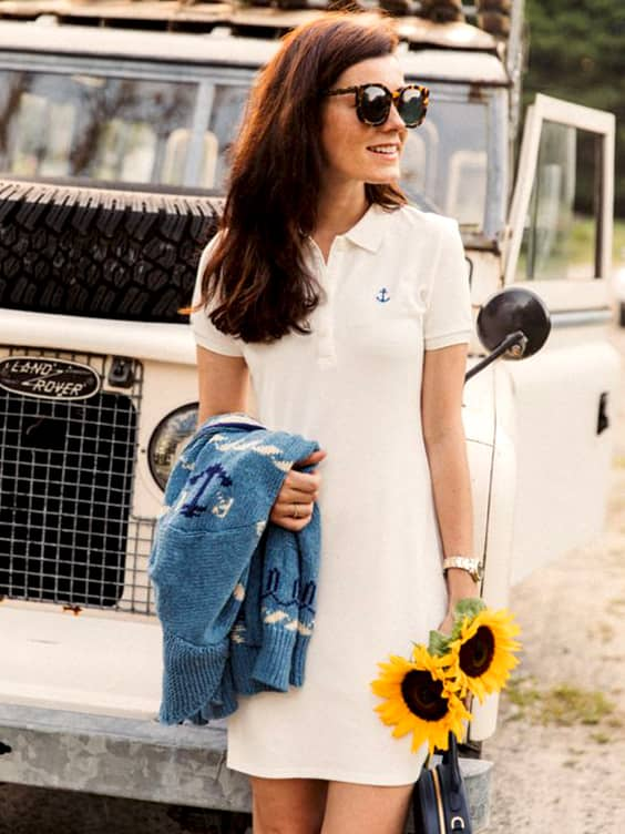 polo-shirt-dress-outfit-idea-fall-school-outfits | Ecemel