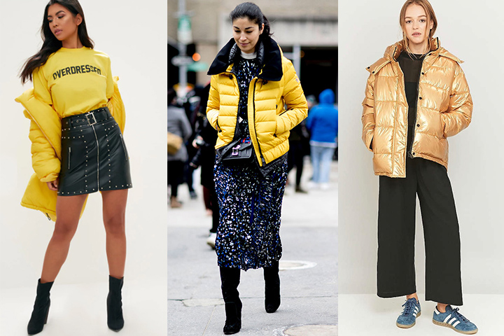 Yellow puffer jackets | HOWTOWEAR Fashi